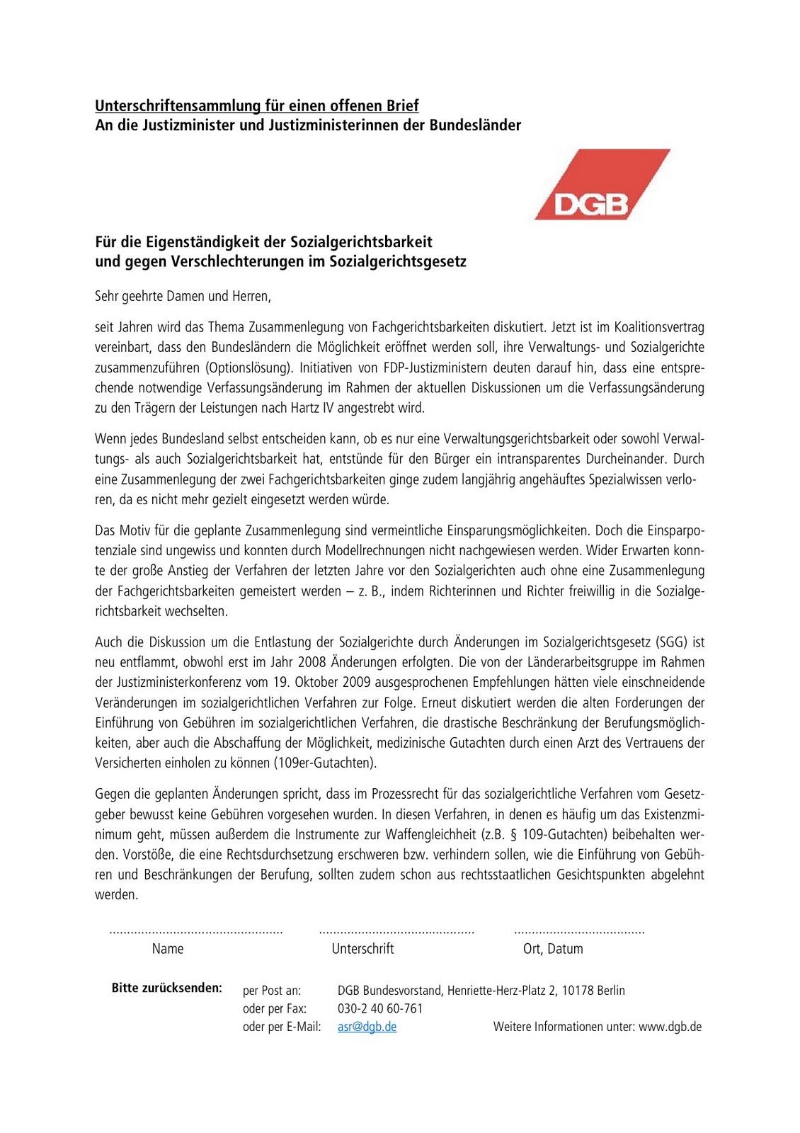 Brief Für Wohnungsbewerbung : Runder tisch freiburg unterschriftensammlung für einen