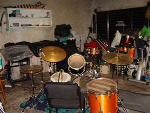 Recording in Jaco's garage