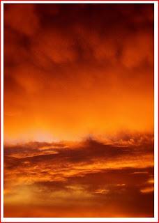photograph orange sky at sunset