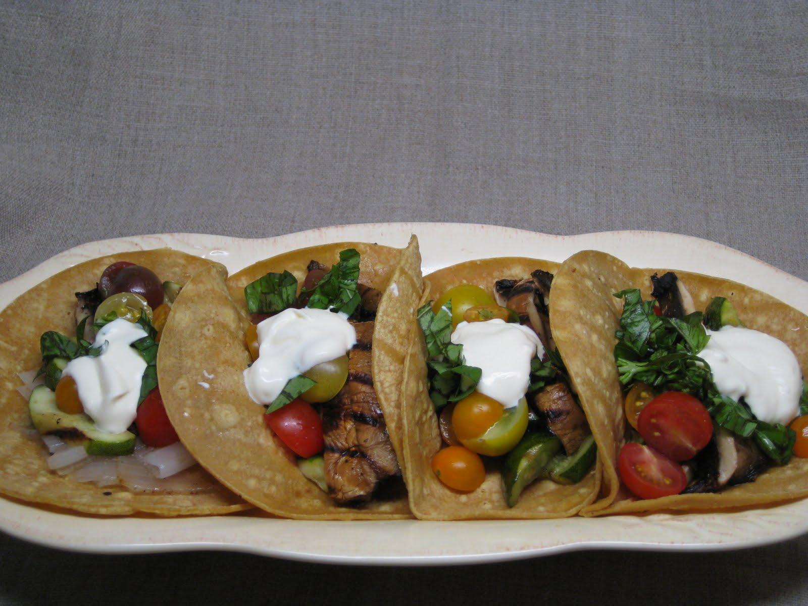 Dinner Tonight: Grilled Portobello & Zucchini Tacos