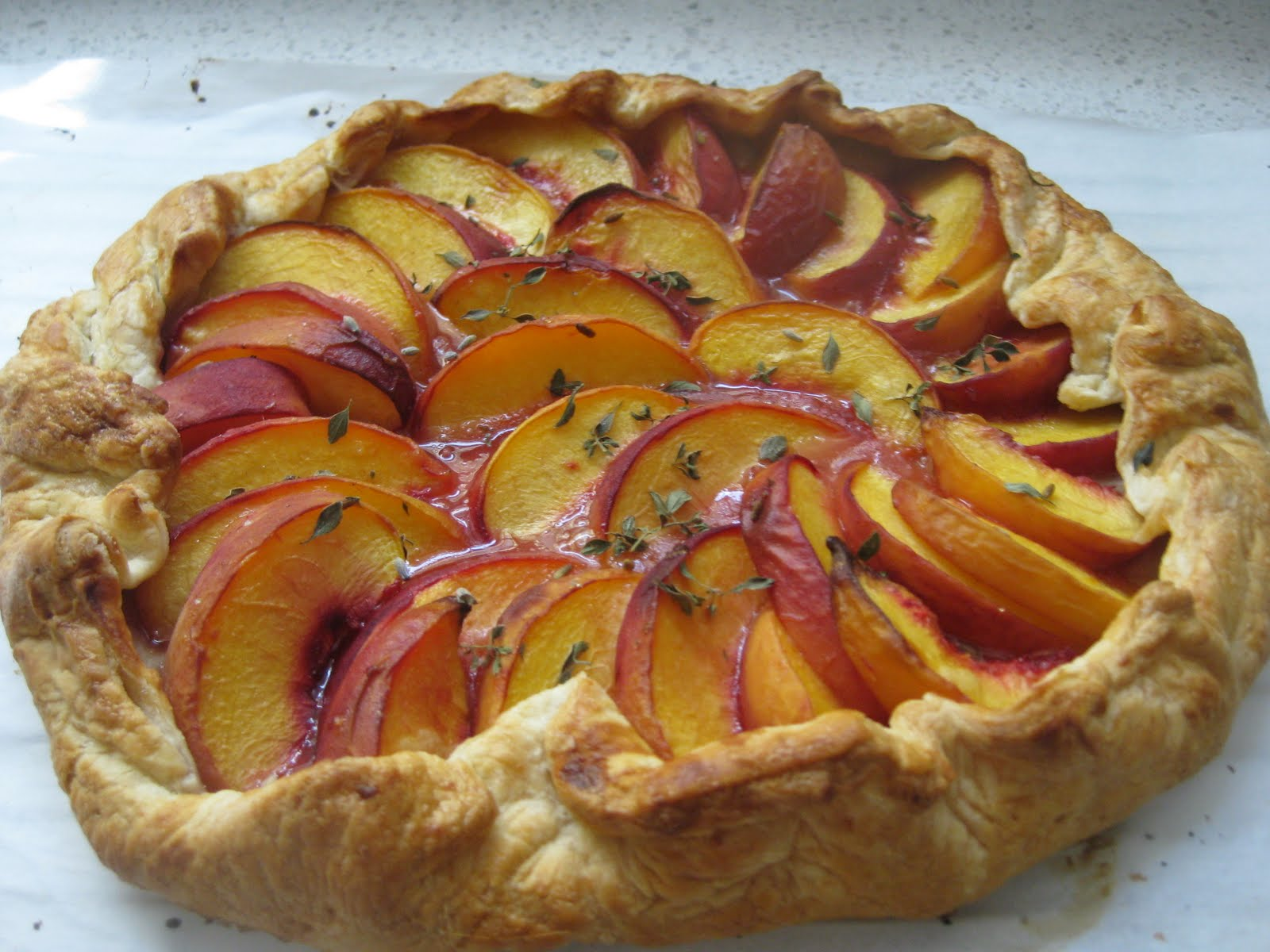 Dinner Tonight: Peach Galette with Lemon Thyme & Lavender Honey