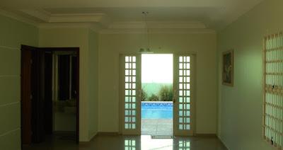 Vista interior da casa