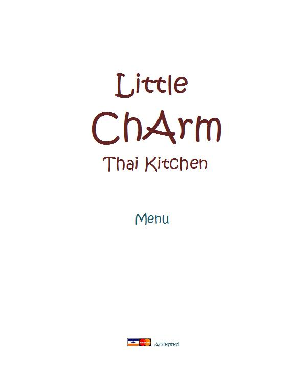 charm thai kitchen charm thai kitchen menu