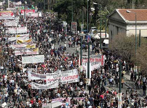 El hundimiento de Grecia Grecia-huelga