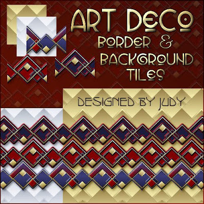 Art Deco Border and background