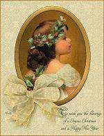 Vintage Christmas Card to Print