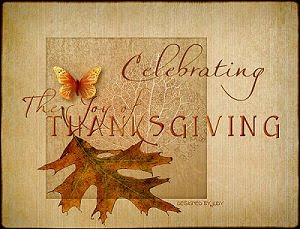 Vintage Style Thanksgiving Card