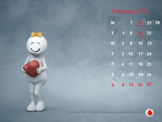 The Zoozoo 2011 Calendar consists of wallpapers for your desktop for every