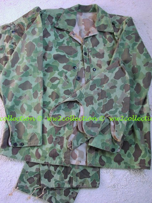 WW2 USMC Camouflage Jungle Uniform