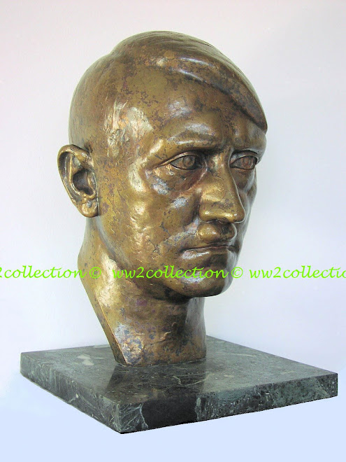 Der Führer Adolf Hitler in Bronze Weighing 30 lbs approx 1.5 times life size marked Rud. Neugebauer