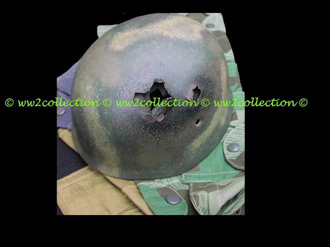 Battle damaged WW2 German Fallschirmjager Helmet