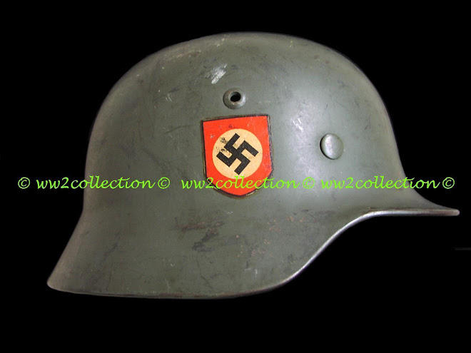 Swastica Decal on SS-Polizei Helmet
