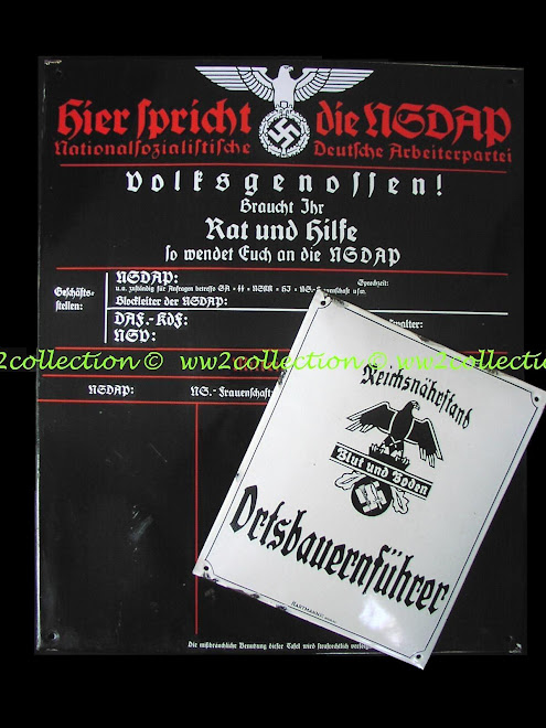NSDAP Nazi Party Porcelain Faced Wall Sign
