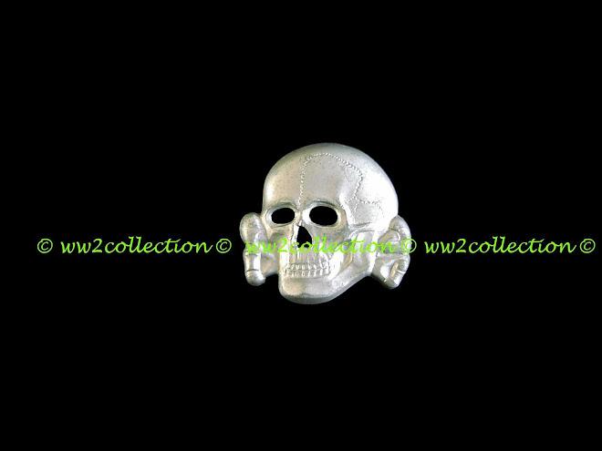 ss skull metal