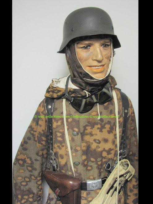 WW2 Ostfront Tarnparka SS, Eastern front Waffen-SS oakleaf camo combat jacket