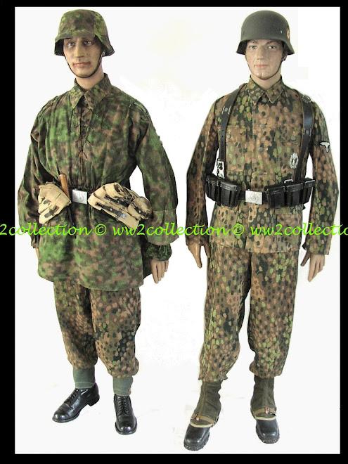 Tarnuniform SS 1944 Drillich, HBT Waffen-SS Camo Uniform, Normandie, Bastogne, Arnhem WWII