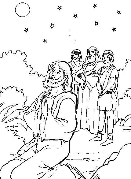 Dibujos De Jesus Orando Para Imprimir