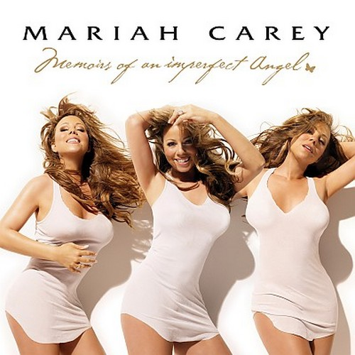 What is Mariah Careys hair color in her recent Memoires of an imperfect angel promotional photos?