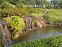 Waterfall pond in Pu La Deshpande park