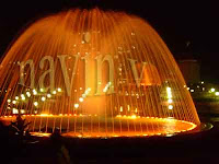 Dome Fountain of Evershine park at Mumbai in India