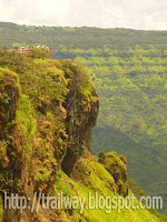 Elephant head AKA Needle hole point of Mahabaleshwar in India