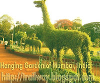 Hanging Garden at Malabar Hill of Mumbai in India