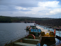 Boats at Venna Lake of Mahabaleshwar of India