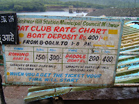 Price at boat club of Venna Lake of Mahabaleshwar in India