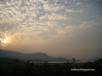 Mulshi Dam reservoir near Pune in India