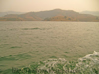 Panshet Dam reservoir near Pune in India