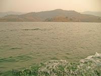 Panshet Dam reservoir near Pune in India