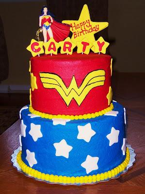 Tara S Cupcakes Wonder Woman Cake 2 Tier