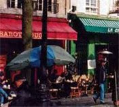 Paris, France cafes