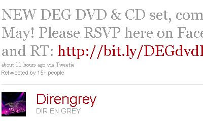 Nuevo DEG DVD & CD set para Mayo