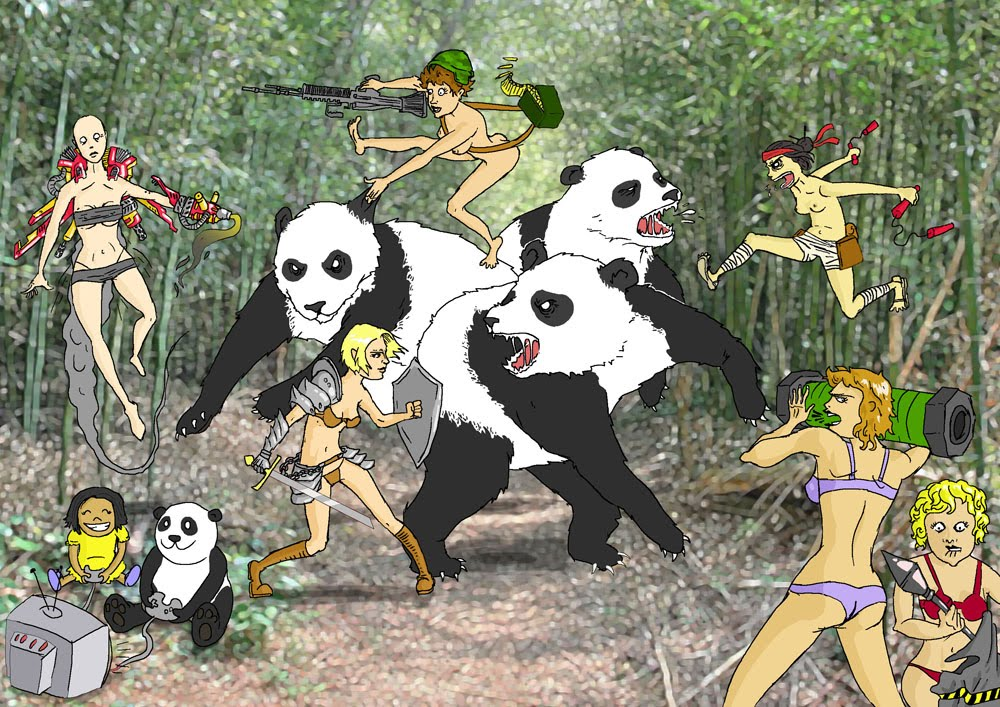 wow pandas pandas fighting