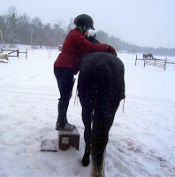 Mounting a Horse Using a Mounting Block