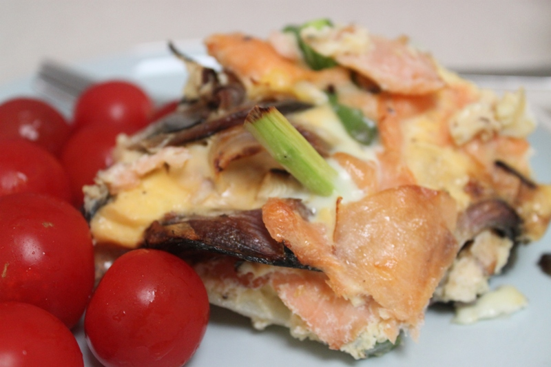More than Words: Smoked Salmon and Asparagus Frittata