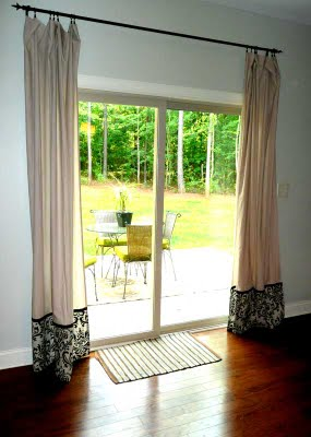 Sliding door curtain drape panel curtain design - Curtain options for sliding glass doors ...