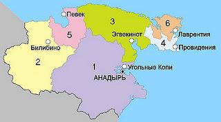 карта районов чукотки
