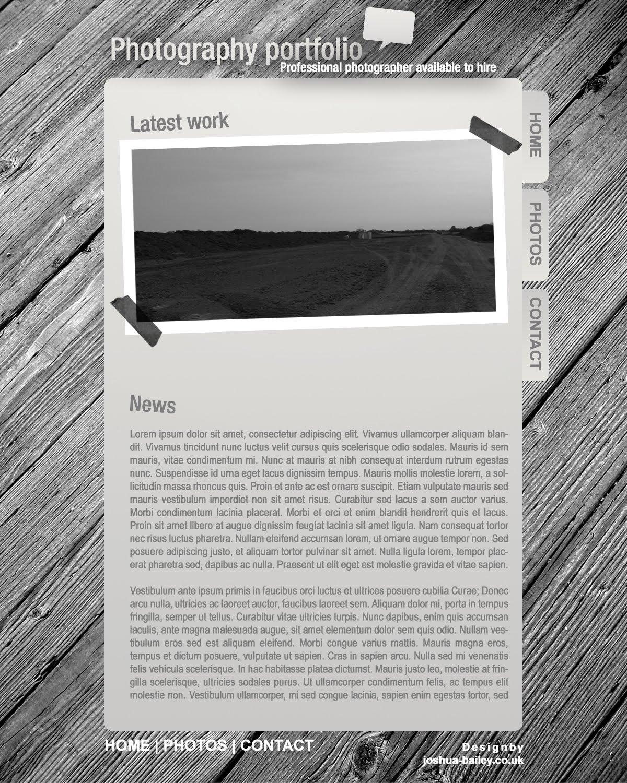 joshua bailey photography portfolio template. Black Bedroom Furniture Sets. Home Design Ideas