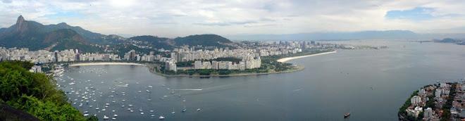 Rio de Janeiro - O Corcovado, Botafogo e a Baía de Guanabara