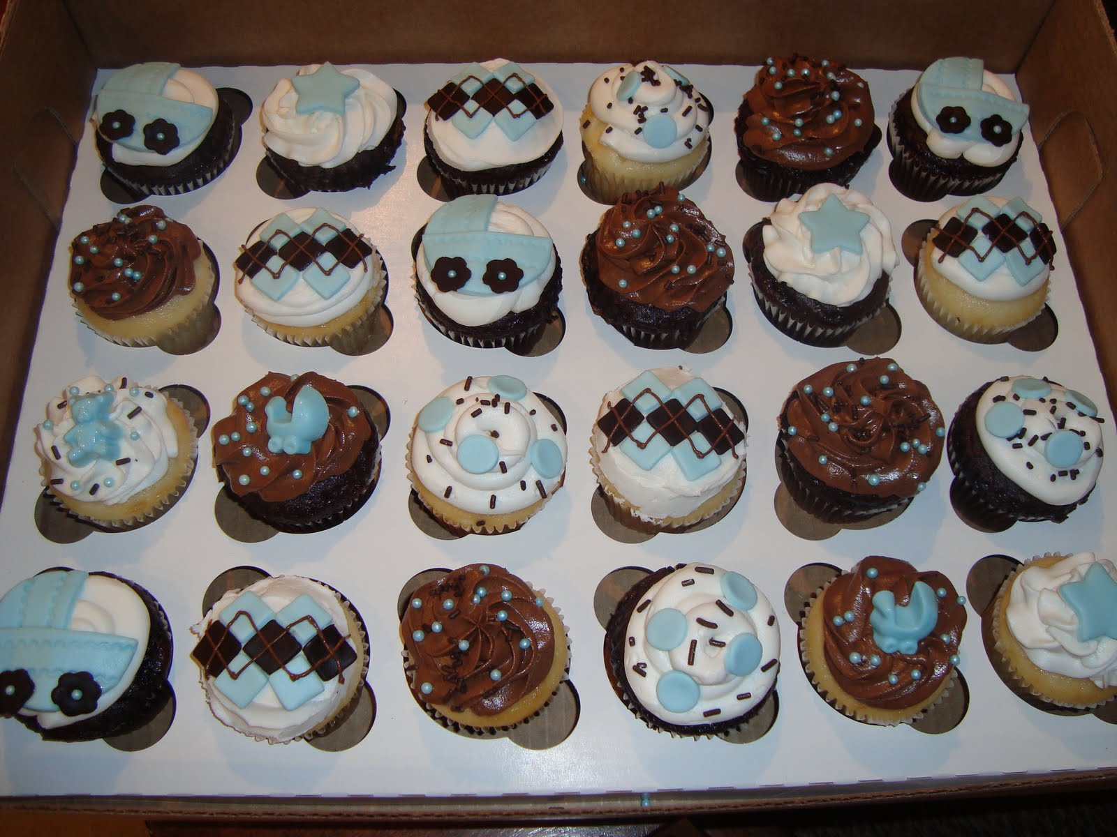cupcakes by dusty boy baby shower