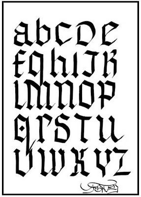 Gothic Alphabet for Graffiti