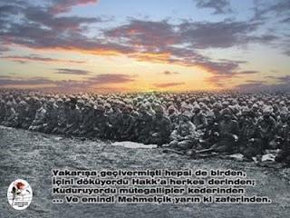 """""""Çanakkale Zaferi, Türk askerinin ruh kudretini gösteren şayanı hayret ve tebrik bir misaldir. Emin olmalısınız ki, Çanakkale Muharebeleri'ni kazandıran bu yüksek ruhtur.""""M. Kemal ATATÜRK"""