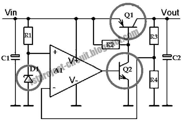 project circuit design  low drop