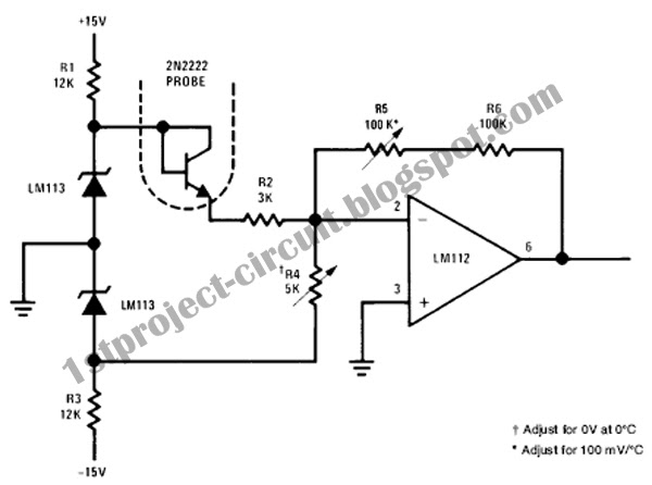 project circuit design  electronic thermometer circuit