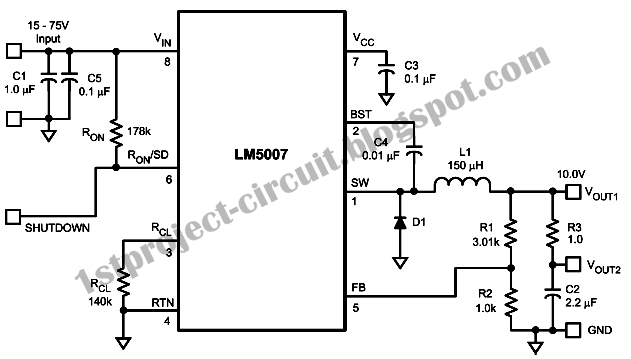 project circuit design  hysteretic constant frequency buck
