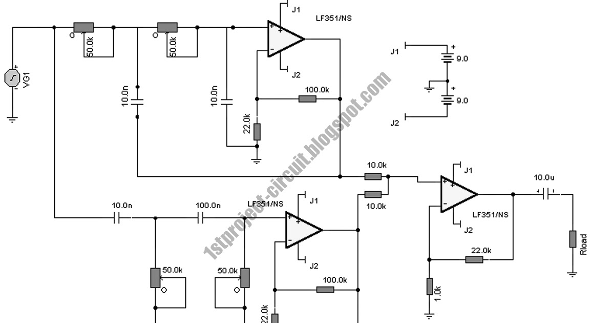 project circuit design  notch filter circuit