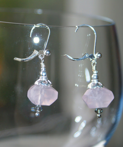 These make a lovely match to the chunky rose quartz necklace