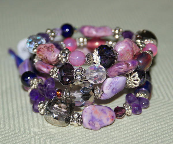 Purple Haze Wire Wrap Bracelet